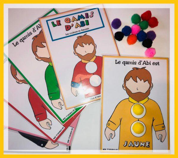 Le qamis d'abi les couleurs en français
