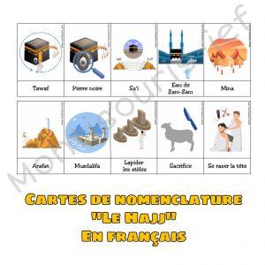 CARTES DE NOMENCLATURE HAJJ