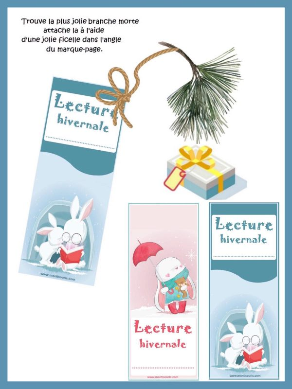 marque-pages hiver OFFERTS MONTISOURIS